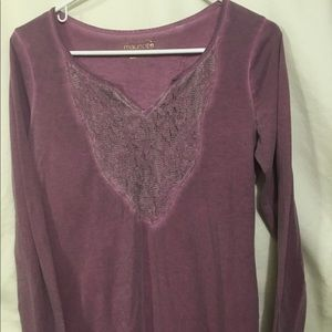 Maurices lacy long sleeve t shirt
